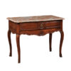 Louis XV Walnut Console with Marble Top