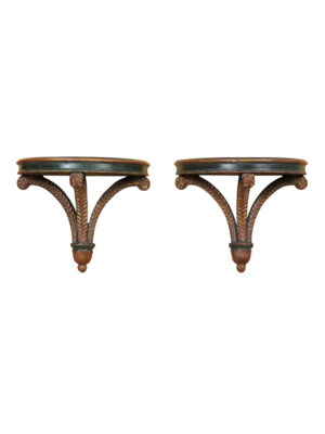 Neoclassical Style Painted Wall Brackets