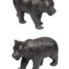 Pair Bronze Bears