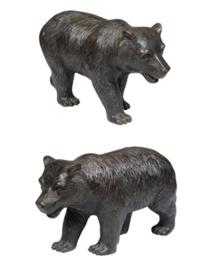 Pair Bronze Bears