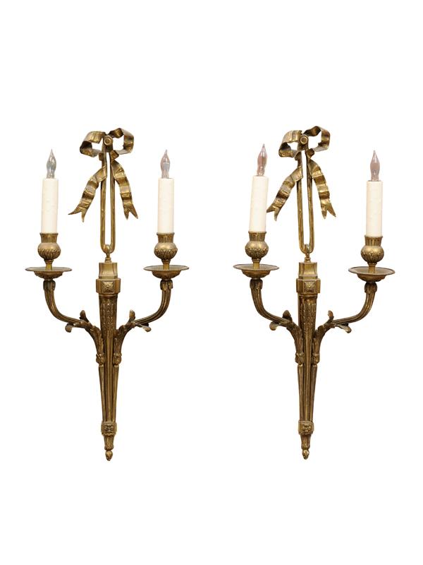 Pair Louis XVI Style Sconces