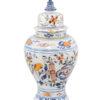 Polychrome Painted Delft Jar