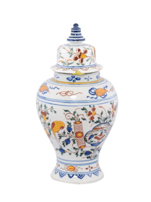 Polychrome Painted Delft Jar