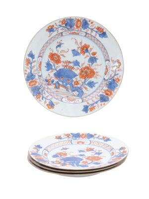 Set of 4 Imari Porcelain Plates