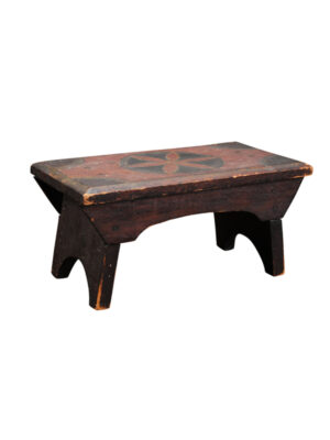19th Century American Painted Footstool