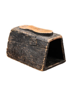 19th Century American Pine Shoeshine Box
