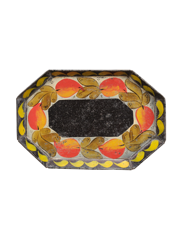 19th Century Floral Decorated Tole Tray