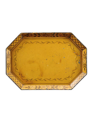 19th Century Yellow Tole Tray