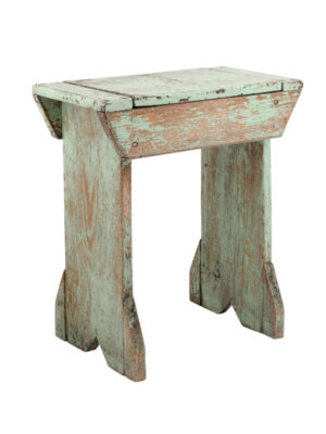 20th Century Green Painted Bench