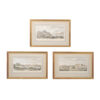 3 Framed 18th Century French Landscape Engravings