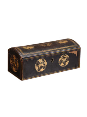 Black Lacquered Chinoiserie Box