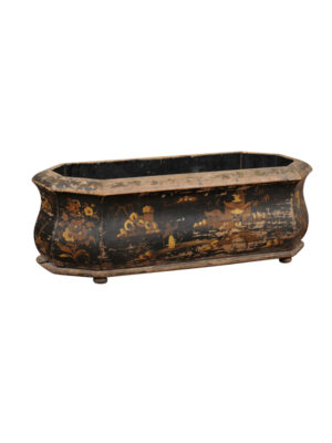Black Lacquered & Gilt Decorated Jardiniere