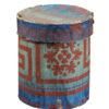 Blue & Green Paper Mache Cylindrical Box