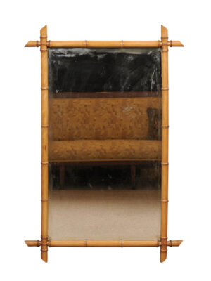 Early 20th Century Bamboo Style Mirror
