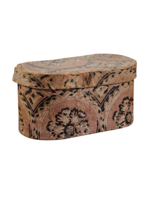 Floral Decorated Paper Mache Box