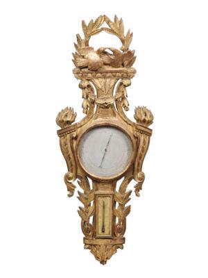 Louis XVI Period Giltwood Barometer