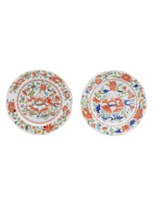 Matched Pair 19th Century English Ironstone Plates