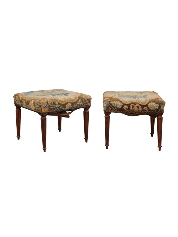 Pair 19th Century Louis XVI Style Benches