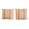 Pair Woven Ikat Stripe Pillows