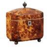 Petite 19th Century English Tortoiseshell Tea Caddy