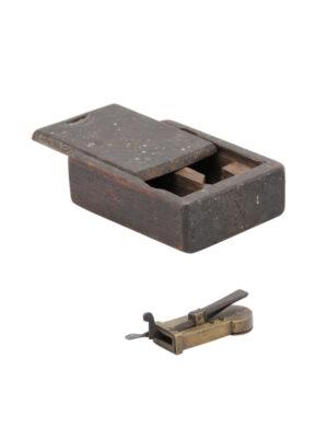 Petite Wooden Slide Box