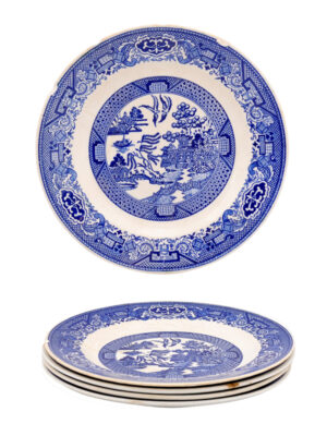Set Blue Willow Plates