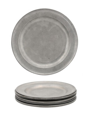 Set of American Pewter Plates