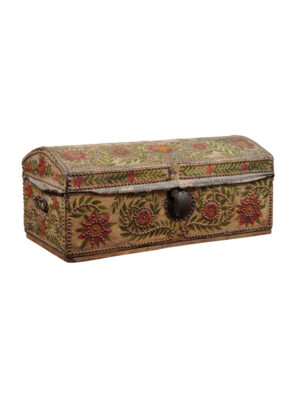 18th Century Painted Leather Trunk
