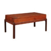 19th Century English Mahogany Coffee : Game Table
