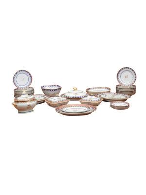 19th Century Famille Rose Porcelain Dinner Service