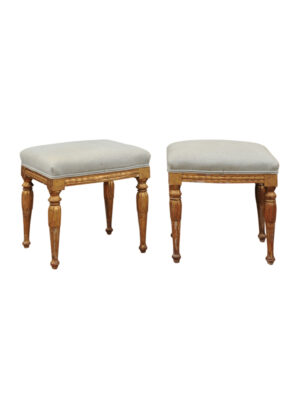 19th Century French Louis XVI Style Giltwood Stools