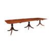 19th Century Regency Style Triple Pedestal Dining Table