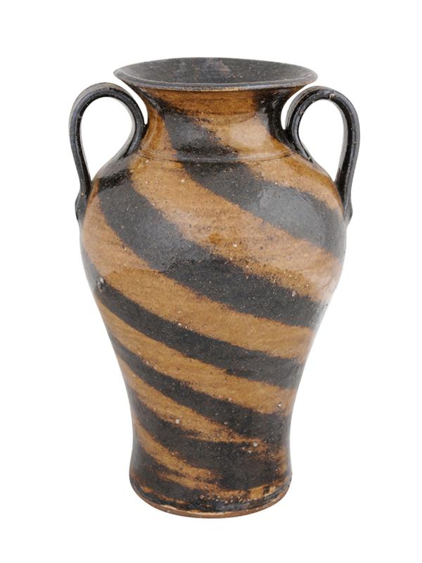 Black & Brown Pottery Vase