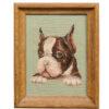 Framed Boston Terrier Needlework