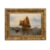 Framed Oil on Canvas Sailboat Painting