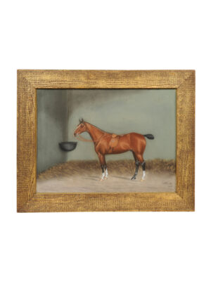 Giltwood Framed Horse Portrait Dan W. Smith