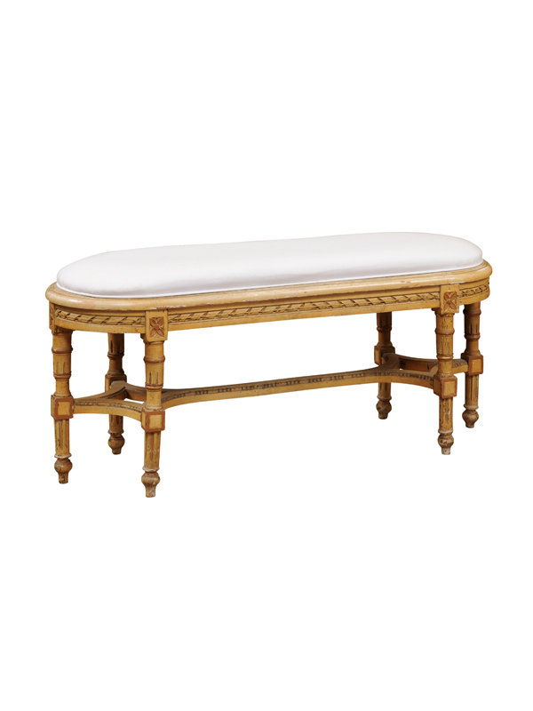 Louis XVI Style Painted Bench
