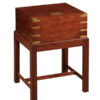 Mahogany & Brass Lap Desk on Stand