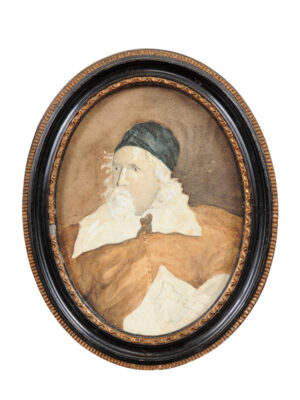 Oval Framed Portrait Inigo Jones