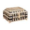 Painted Wood & Carved Bone Box