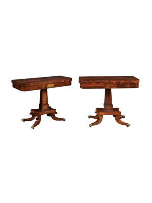 Pair Regency Rosewood Game Tables