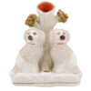 Staffordshire Poodle Dog Spill Vase