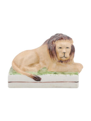 Staffordshire Recumbent Lion Figure