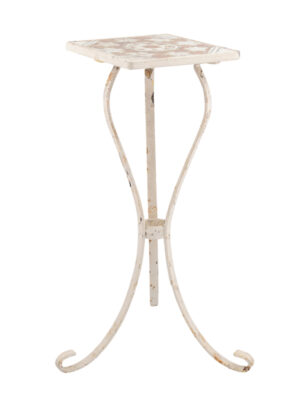 White Painted Iron Drink Table