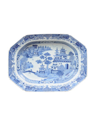 18th Century Chinese Blue & White Platter