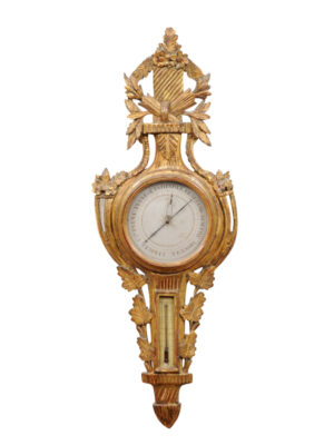 18th Century French Giltwood Barometer