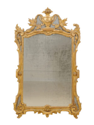 18th Century French Giltwood Mirror