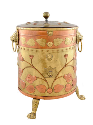 19th Century Brass & Copper Coal Hod