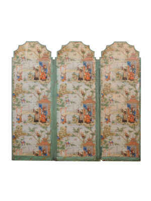 19th Century Chinoiserie Painted Folding Screen