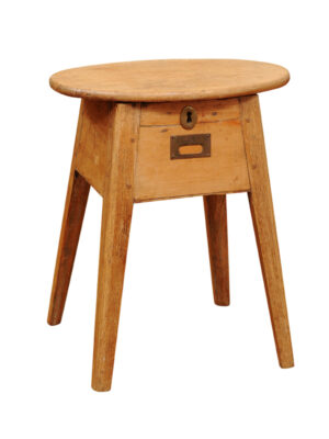 19th Century English Pine Stool with Lift Top